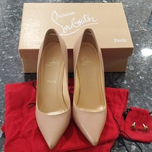 Christian Louboutin Nude Pigalle 100mm pumps